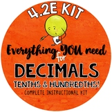 - Math TEKS 4.2E  Representing decimals- tenths & hundredths with models & money