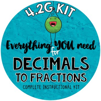 Math TEKS 4.2G - Relating Decimals to Fractions - tenths & hundredths
