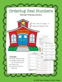 Math TEKS 8.2D Ordering Real Numbers Partner Activity