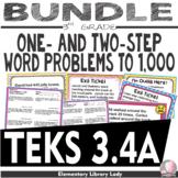 Math TEKS 3.4A BUNDLE Texas 3rd Grade Task Cards, Exit Slips, Worksheets