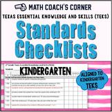 Math TEKS Checklists, Kindergarten