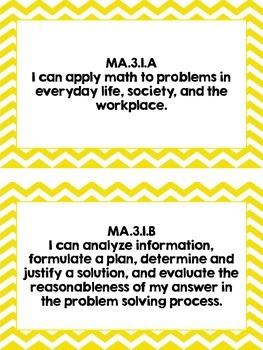 Math TEKS I Can Statements
