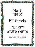 Math TEKS I Can Statements