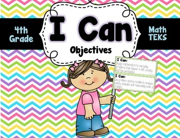Math TEKS and I Can Cards**4th Grade**
