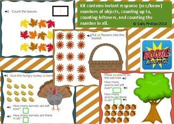 Math TEKS K.2A, K.2B, K.2C, K.2D  Fall Fun Counting:  Focus 11, 12, 13, 14, 15