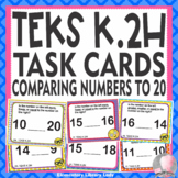 Math TEKS K.2H Texas Kindergarten Task Cards Comparing Num