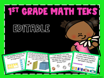 Math TEKS Posters for First Grade