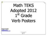 Math TEKS Verbs for 1st Grade