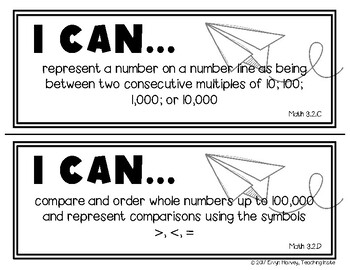 Math TEKS for Third Grade