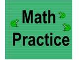 Math TEST Prep or Daily Review