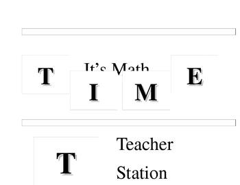 Math T.I.M.E. Heading Cards