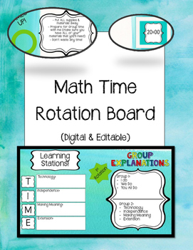 Math TIME Rotation Board DIGITAL