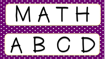 Math TIME guided math posters
