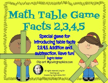 Math Table Game! Introducing Facts of 2,3,4,5