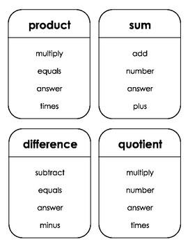 Math Taboo - Third Grade
