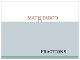 Math Taboo for Fractions