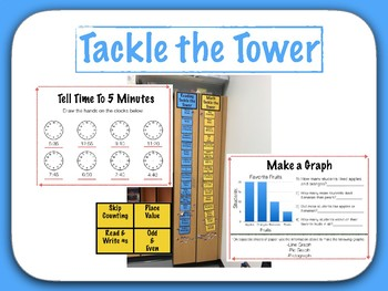 Math Tackle the Tower - 2nd Grade