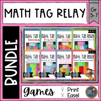 Math Tag Relay Bundle