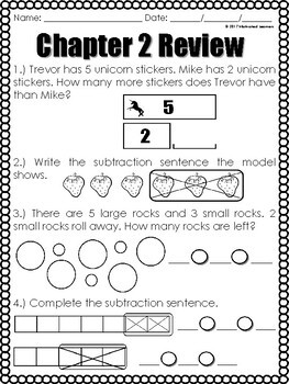 "Chapter 2  Review ""Go Math"" Form B Included"