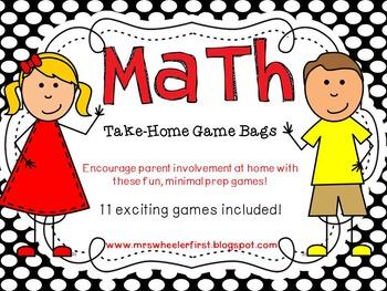 First Grade Math: Take-Home Games