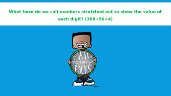 NUMBER SENSE AND PLACE VALUE...Math Talk! PowerPoint Presentation