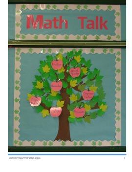 Math Word Wall Bulletin Board