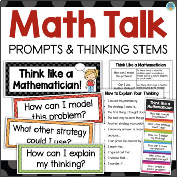 Math Talk Prompts and Thinking Stems