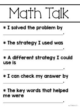Math Talk Basics