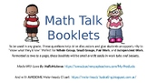 Math Talk Booklets