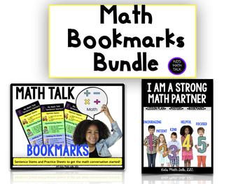Math Talk Bookmarks Bundle!
