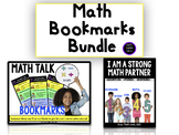 Math Talk Bookmarks Bundle! #ringin2018
