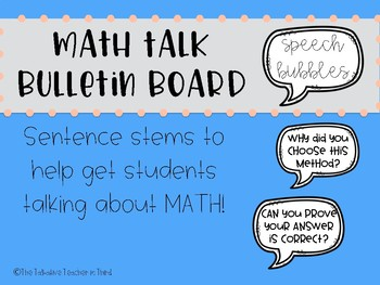 Math Talk Bulletin Board