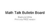 Math Talk Bulletin Board - FREE version