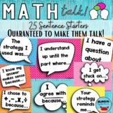 Math Talk Bulletin Board Posters   ENGLISH