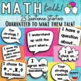 Math Talk Bulletin Board Posters   ENGLISH & SPANISH Bundle