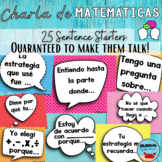 Math Talk Bulletin Board Posters   SPANISH