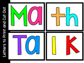 Math Talk Bulletin Board Set