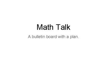 Math Talk Bulletin Board and Plan