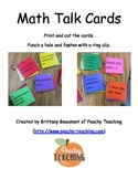 Math Talk Cards
