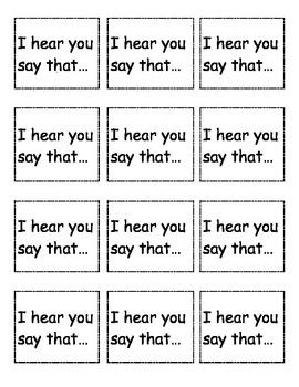 Math Talk Cards