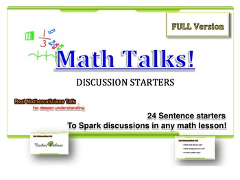 Math Talk Cards Full