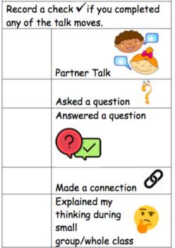Math Talk Checklist