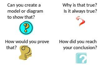 Math Talk Classroom Question Card Set
