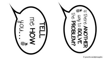 Math Talk Conversation Bubbles