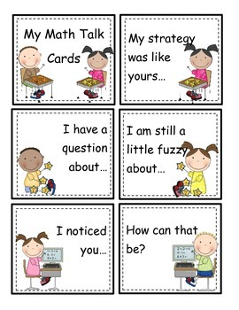 Math Talk Conversation Cards