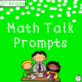 Math Talk Critical Thinking Prompts ~ Journal & Poster Size ~ 1st Grade