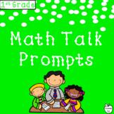 1st Grade Math Journal Prompts & Math Talk Posters