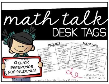 Math Talk Desk Tags