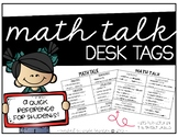 Math Talk Desk Tags