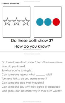 Math Talk Discussion Cards - Kindergarten, 1st Grade